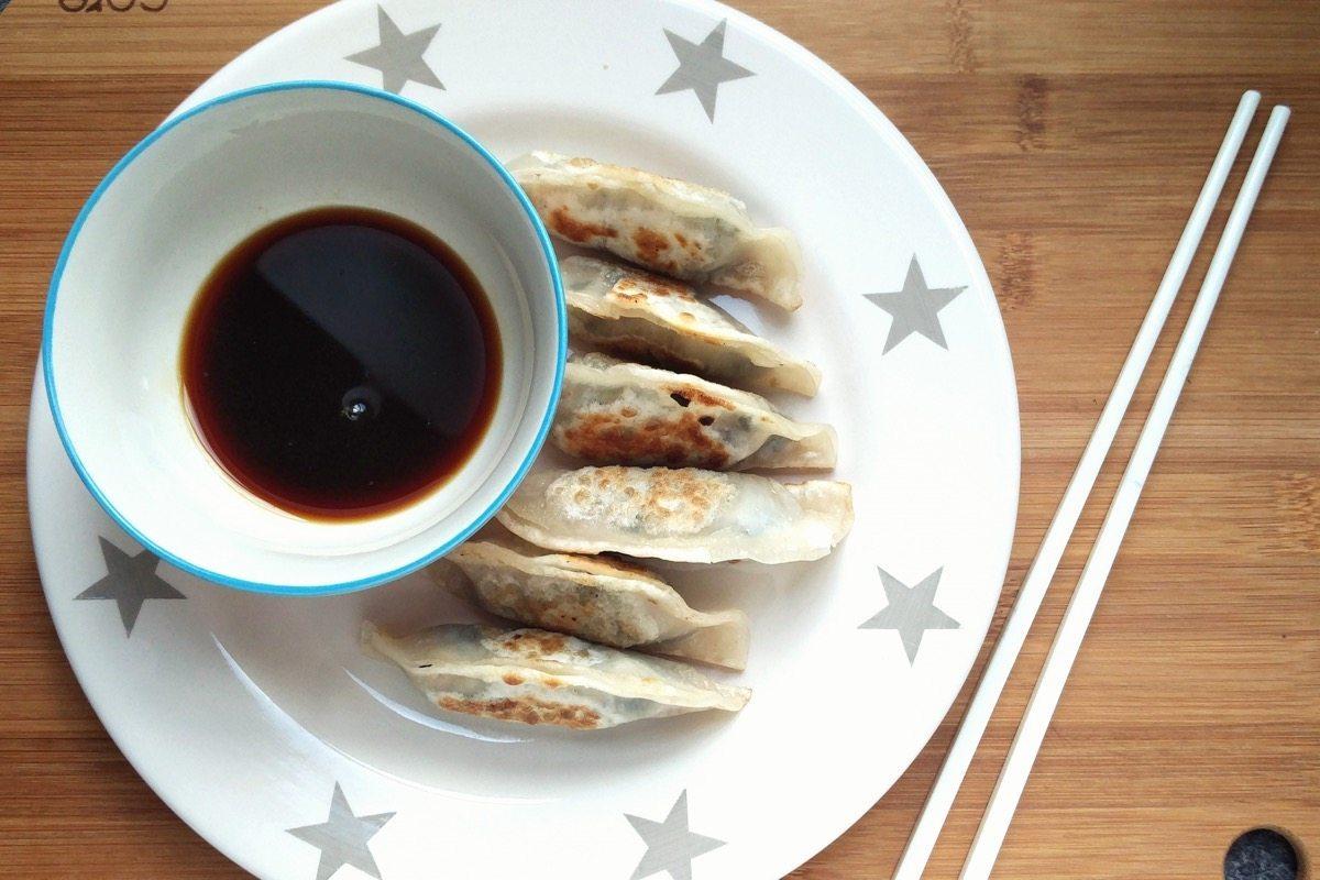 Dumplings de tempeh y cavolo nero