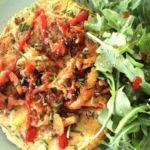 Tortilla de calabacín con setas (sin huevo)